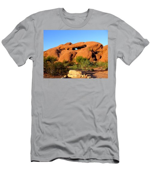 Men's T-Shirt (Athletic Fit) featuring the photograph Papago Park by Michelle Dallocchio