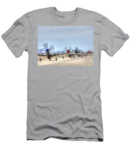 Parade Of Mustangs Men's T-Shirt (Athletic Fit)