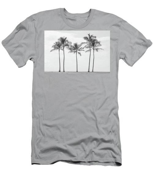 Paradise In Black And White II Men's T-Shirt (Athletic Fit)
