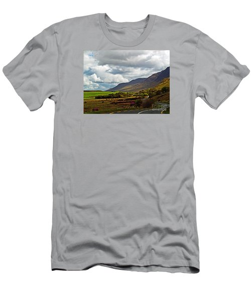 Paradise In Ireland Men's T-Shirt (Slim Fit) by Patricia Griffin Brett