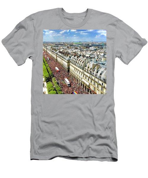 Paris Pride March 2018 Men's T-Shirt (Athletic Fit)