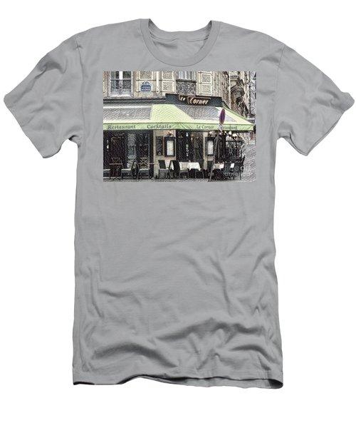 Paris - Restaurant Men's T-Shirt (Athletic Fit)