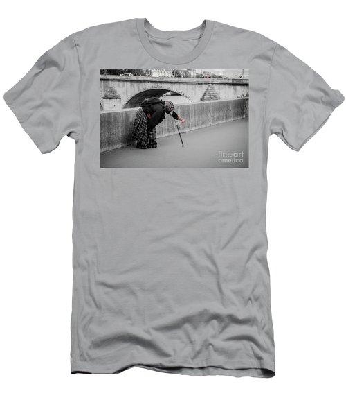 Parisian Beggar Lady Men's T-Shirt (Athletic Fit)