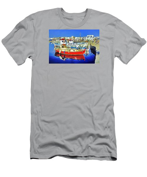 Paros Fishing Boats Men's T-Shirt (Slim Fit) by Dennis Cox WorldViews