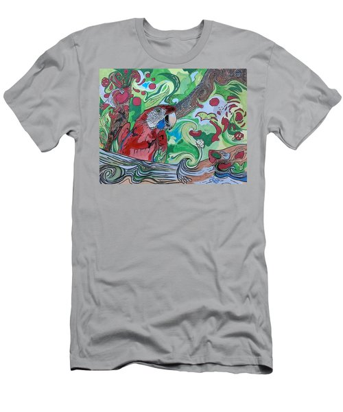 Parrot Kaleidoscope  Men's T-Shirt (Athletic Fit)