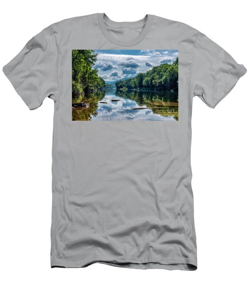 Partially Cloudy Gauley River Men's T-Shirt (Athletic Fit)