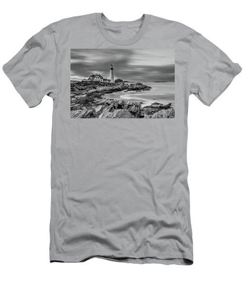 Passing Storm At Portland Head Light Men's T-Shirt (Athletic Fit)