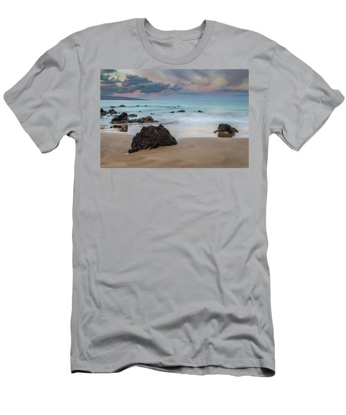 Men's T-Shirt (Athletic Fit) featuring the photograph Pastel Hawaii Sunrise by Pierre Leclerc Photography