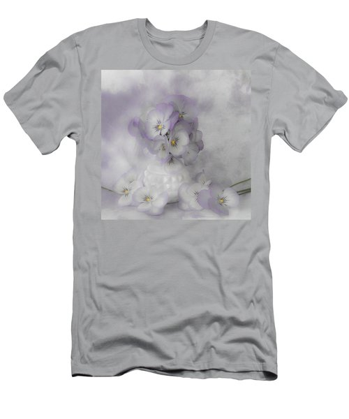 Pastel Pansies Still Life Men's T-Shirt (Athletic Fit)