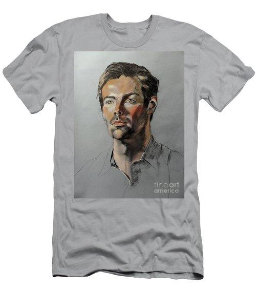 Pastel Portrait Of Handsome Guy Men's T-Shirt (Athletic Fit)