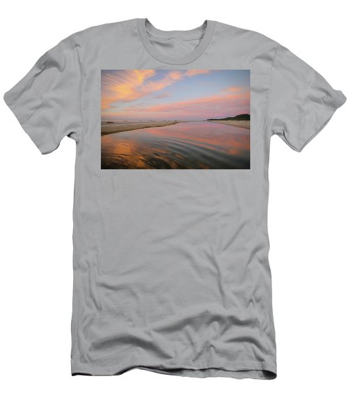 Pastel Skies And Beach Lagoon Reflections Men's T-Shirt (Athletic Fit)