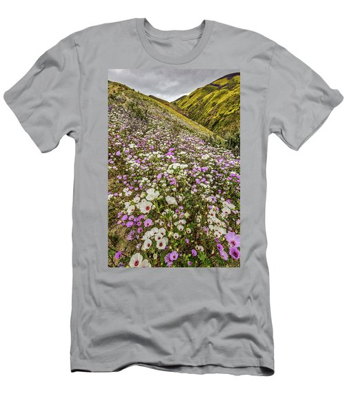 Men's T-Shirt (Slim Fit) featuring the photograph Pastel Super Bloom by Peter Tellone