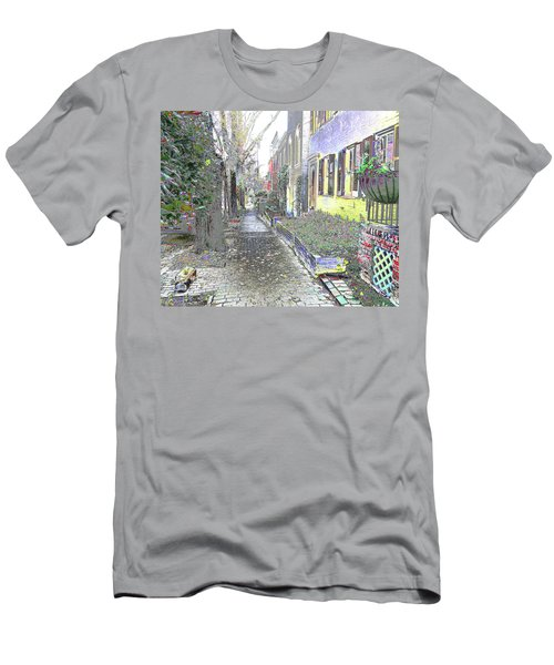 Men's T-Shirt (Athletic Fit) featuring the photograph Path Beyond by EDi by Darlene
