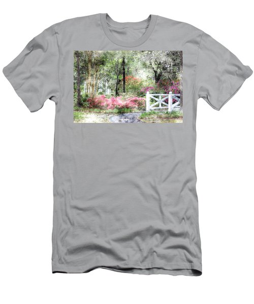 Men's T-Shirt (Athletic Fit) featuring the photograph Path To The Bridge by Donna Bentley