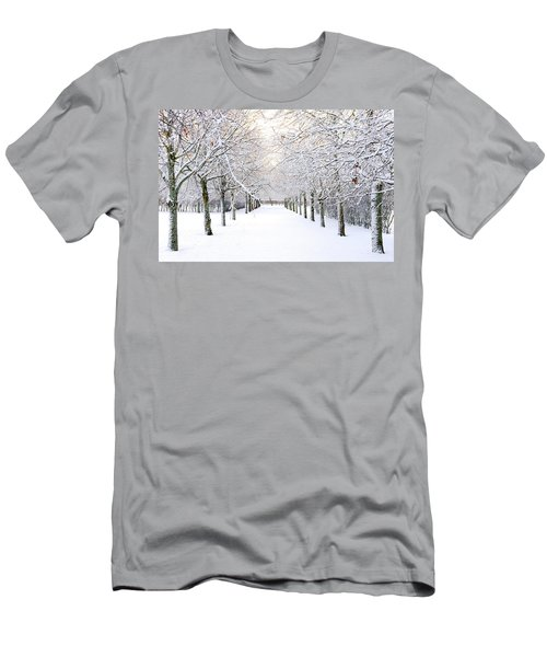 Pathway In Snow Men's T-Shirt (Athletic Fit)