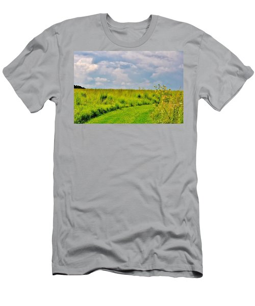 Pathway Through Wildflowers Men's T-Shirt (Athletic Fit)