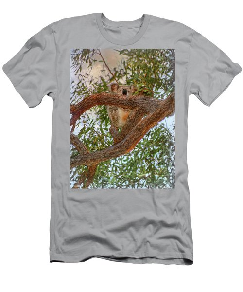 Men's T-Shirt (Athletic Fit) featuring the photograph Patience Brings Koalas by Hanny Heim