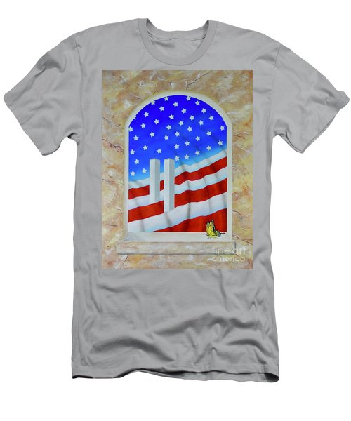Men's T-Shirt (Athletic Fit) featuring the painting Patriotic View by Mary Scott