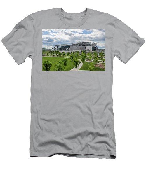 Paul Brown Stadium Color Men's T-Shirt (Slim Fit) by Scott Meyer