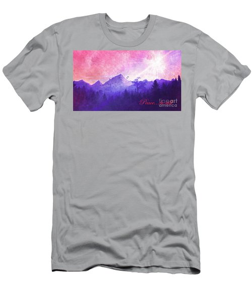 Men's T-Shirt (Athletic Fit) featuring the digital art Peace Be Still 2016 by Kathryn Strick