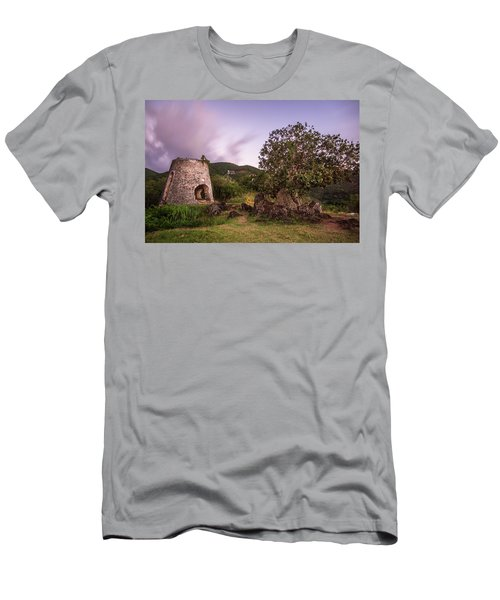 Men's T-Shirt (Slim Fit) featuring the photograph Peace Hill Ruins by Adam Romanowicz