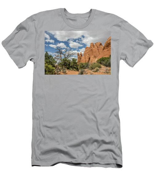 Men's T-Shirt (Athletic Fit) featuring the photograph Peace In Arches National Park by Sue Smith