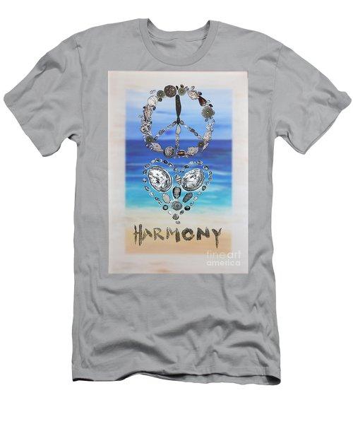 Peace Love Harmony Men's T-Shirt (Athletic Fit)