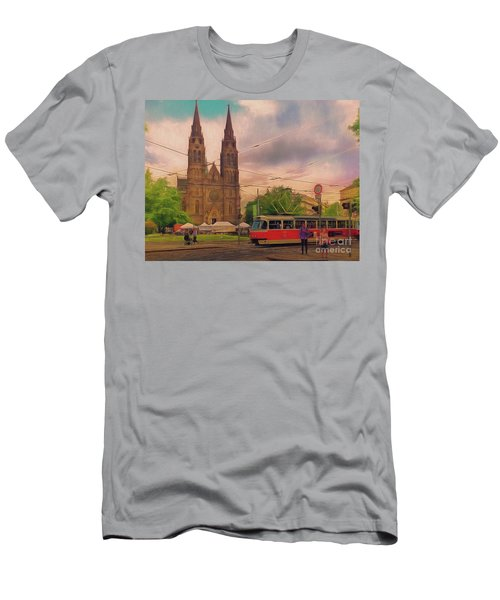 Peace Square Prague Men's T-Shirt (Athletic Fit)