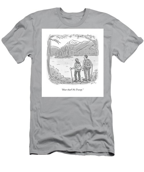 Peaceful Hikers Men's T-Shirt (Athletic Fit)