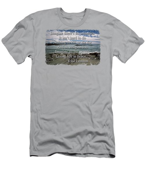 Men's T-Shirt (Slim Fit) featuring the photograph Peaceful Pacific Beach by Richard Farrington