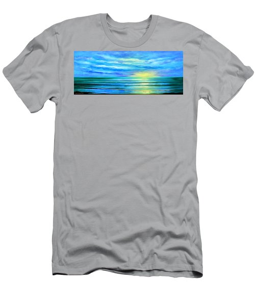 Peacefully Blue - Panoramic Sunset Men's T-Shirt (Athletic Fit)
