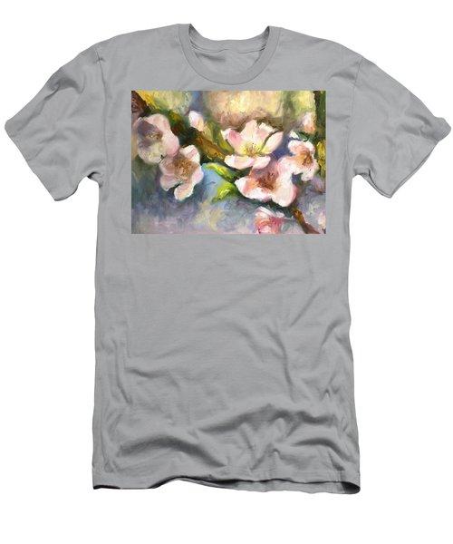 Peach Blossoms Men's T-Shirt (Athletic Fit)