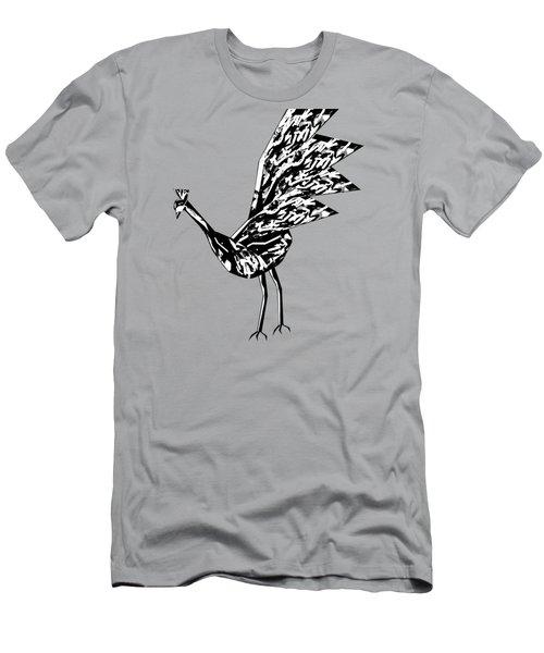 Peacock Dance B Men's T-Shirt (Slim Fit) by Thecla Correya
