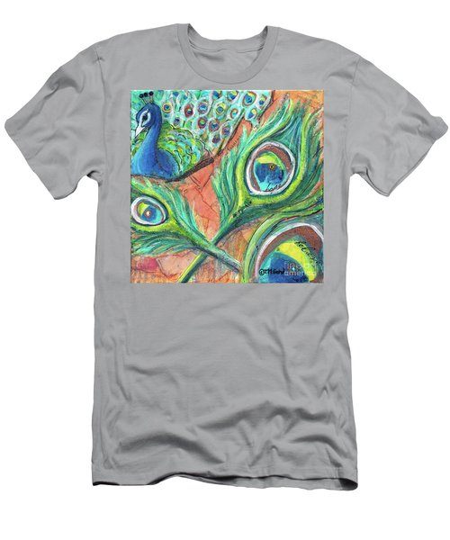 Peacock Feathers Men's T-Shirt (Athletic Fit)