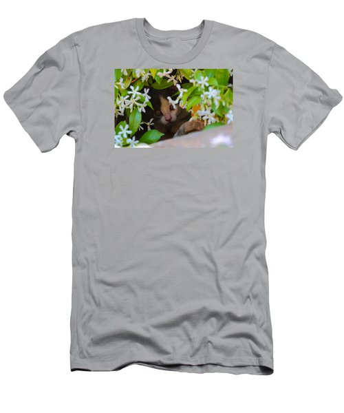 Men's T-Shirt (Slim Fit) featuring the photograph Peek-a-boo by Richard Patmore