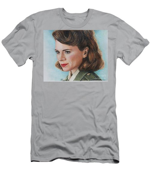 Peggy Carter / Hayley Atwell Men's T-Shirt (Athletic Fit)