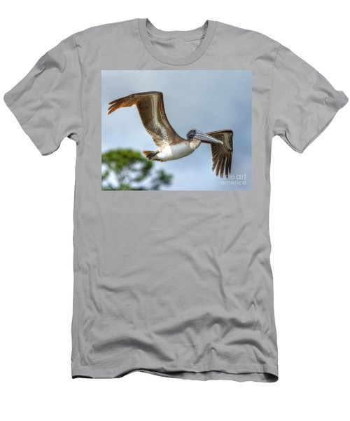 Men's T-Shirt (Athletic Fit) featuring the photograph Pelican-4443 by Tommy Patterson