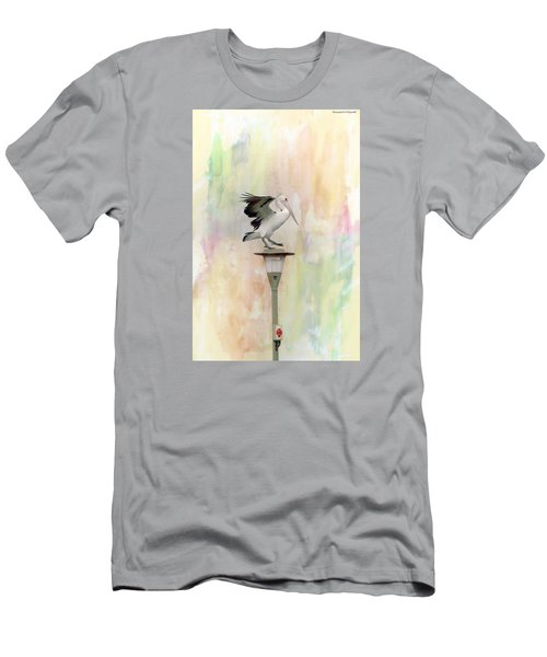 Men's T-Shirt (Slim Fit) featuring the photograph Pelican Beauty 000004 by Kevin Chippindall