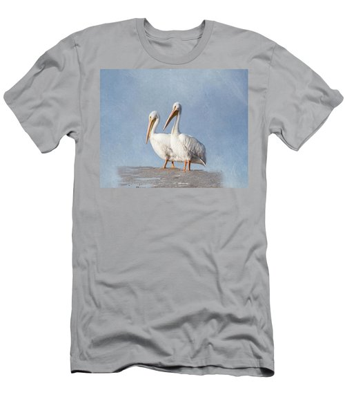 Men's T-Shirt (Athletic Fit) featuring the photograph Pelican Duo by Kim Hojnacki