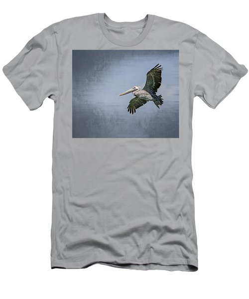 Men's T-Shirt (Slim Fit) featuring the photograph Pelican Flight by Carolyn Marshall