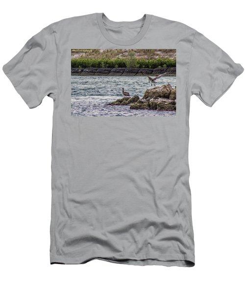 Pelicans  Men's T-Shirt (Slim Fit) by Nance Larson