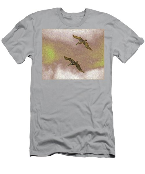 Pelicans On Cave Wall Men's T-Shirt (Athletic Fit)