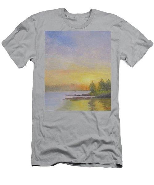 Pemaquid Beach Sunset Men's T-Shirt (Athletic Fit)