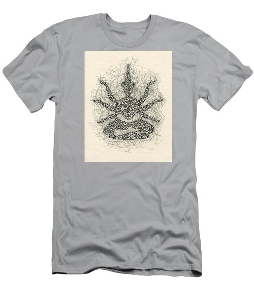 Pen And Ink Drawing Buddha  Men's T-Shirt (Athletic Fit)
