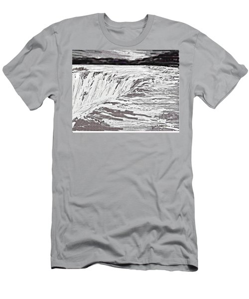 Men's T-Shirt (Slim Fit) featuring the drawing Pencil Falls by Desline Vitto