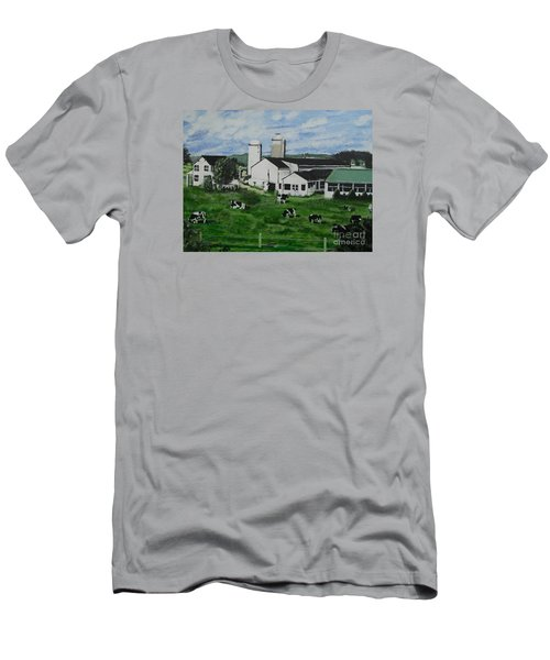 Pennsylvania Holstein Dairy Farm  Men's T-Shirt (Athletic Fit)