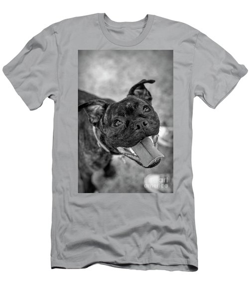 Penny - Dog Portrait Men's T-Shirt (Athletic Fit)