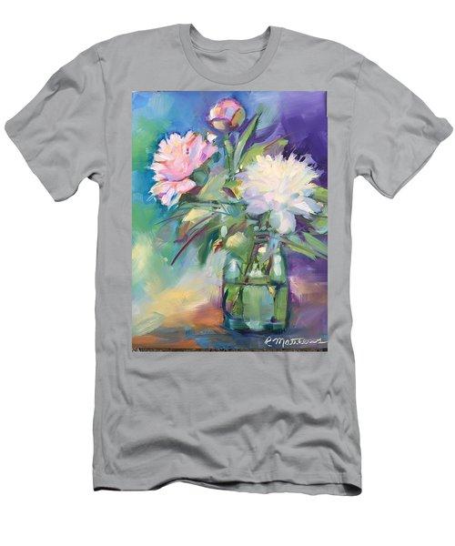 Peonies In Jar Men's T-Shirt (Athletic Fit)