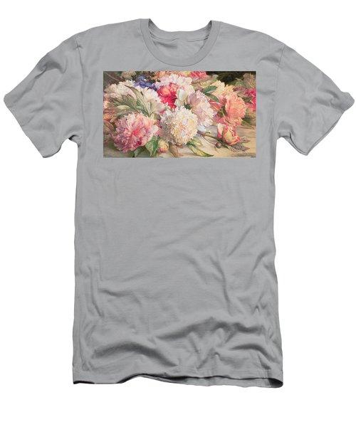 Peonies Men's T-Shirt (Athletic Fit)