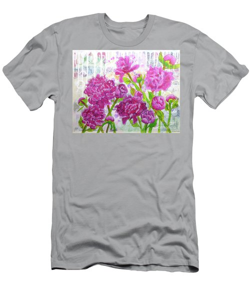 Peony Profusion Men's T-Shirt (Athletic Fit)